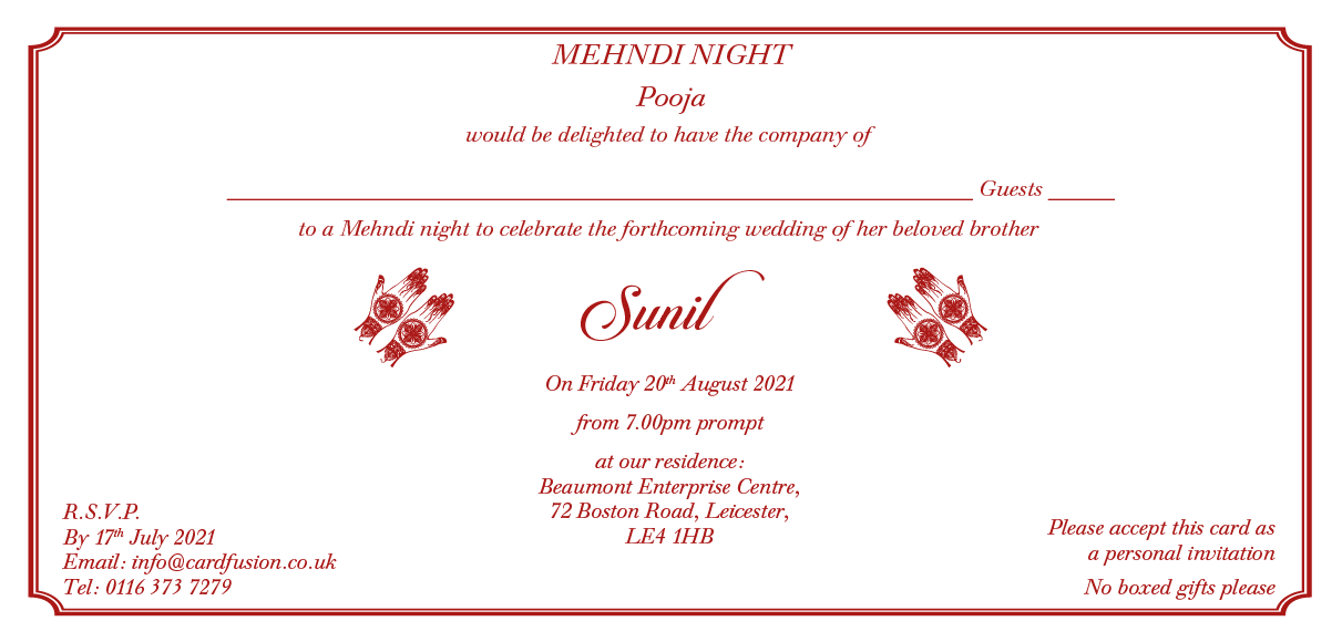 Wording For Mehndi Invitation Wordings And Templates Cardfusion